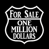 ステッカー剥がし 16x16CM FOR特売100万ドルおかしいビニールデカールブラック/シルバーカーステッカーカースタイリング ステッカー剥がし (Color Name : Silver)