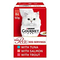 Crafted with a selection of Tuna, Salmon, Trout in a savoury sauce Complete pet food for adult cats 100% complete and balanced nutritional pet food for adult cats (aged 1 to 7) A tempting variety of flavours to tempt your cat's taste buds. Served in ...
