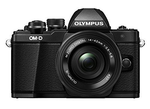 Olympus OM-D E-M10 Mark II Kit, Micro Four Thirds Systemkamera (16 Megapixel, 5-Achsen Bildstabilisator, elektronischer Sucher) + M.Zuiko 14-42mm EZ Zoomobjektiv, schwarz