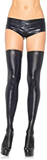 Leg Avenue Women's Wet Look Thigh Highs