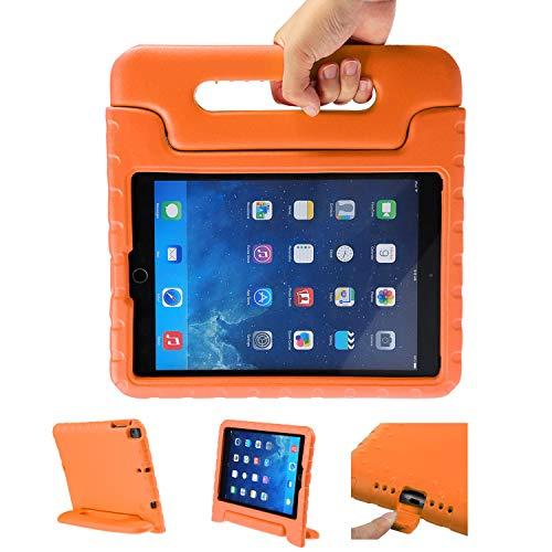 LEADSTAR Kinder Schutzhülle für iPad 9.7 2017 2018, Kinderfreundlich Kinder Schutz Hülle Eva Case Leichte Stoßfeste Schutzhülle Tasche für Apple iPad Air/iPad Air2 / iPad 9.7 2017 2018 (Orange)