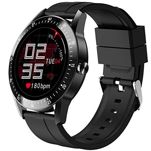 ZDY Hommes Intelligent Montre Sport Bluetooth Appel Musique Caméra de contrôle wathes Sang Taux Pression Cardiaque Sommeil Moniteur Bracelet Android,Noir