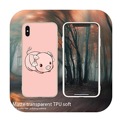 Weiche Handyhülle für iPhone 11 Pro 7 8 6 6S Plus XR XS Max Cover Tasche 5 5S SE 2020 Etui Hüllen Cute Little Pink Pet Pig 4 Soft Case für iPhone SE 2020