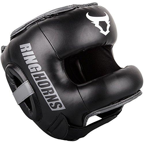 Ringhorns Nitro Cascos de Boxeo, Unisex Adulto, Negro, Talla única