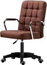 Computer Desk Chair,PU Leather Executive Chair with Mid Back Adjustable Height Office Swivel Chair with Armrest,Home/Offic...