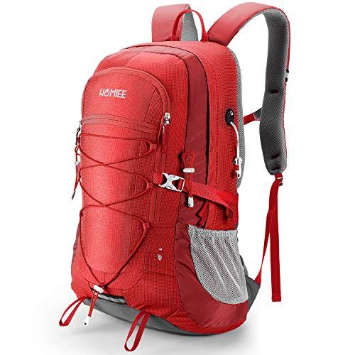 HOMIEE Wanderrucksack 45L, Herren Damen Wasserdichter Rucksack Trekkingrucksack Reiserucksack, Outdoorrucksack mit Reflexstreifen Für Wandern, Radfahren, Klettern, Bergsteigen und Reisen Sport