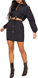 Kankanluck 女性の巾着作物のトレーニングスカートは、2ピースの服装ドレスを設定