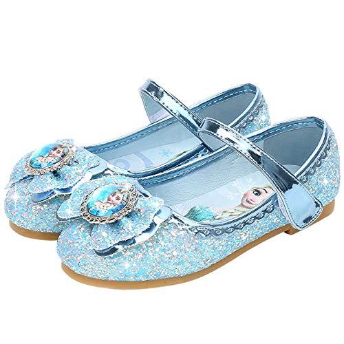 YOSICIL Zapatos de la Princesa Elsa niñas con Lentejuela Zapato de Disfraz...