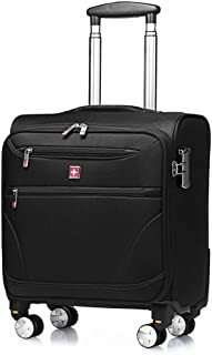 GLJJQMY Travel Suitcase Shockproof Business Boarding Travel Bag Universal Wheeled Trolley Case Trolley case (Color : Black, Size : 46x23x39cm)