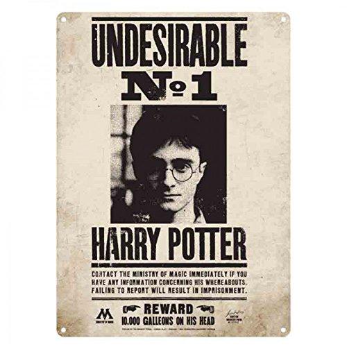Harry Potter Lamina Plaque en métal, Multicolore, Unique