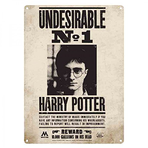 Half Moon Bay Placa Metálica Harry Potter