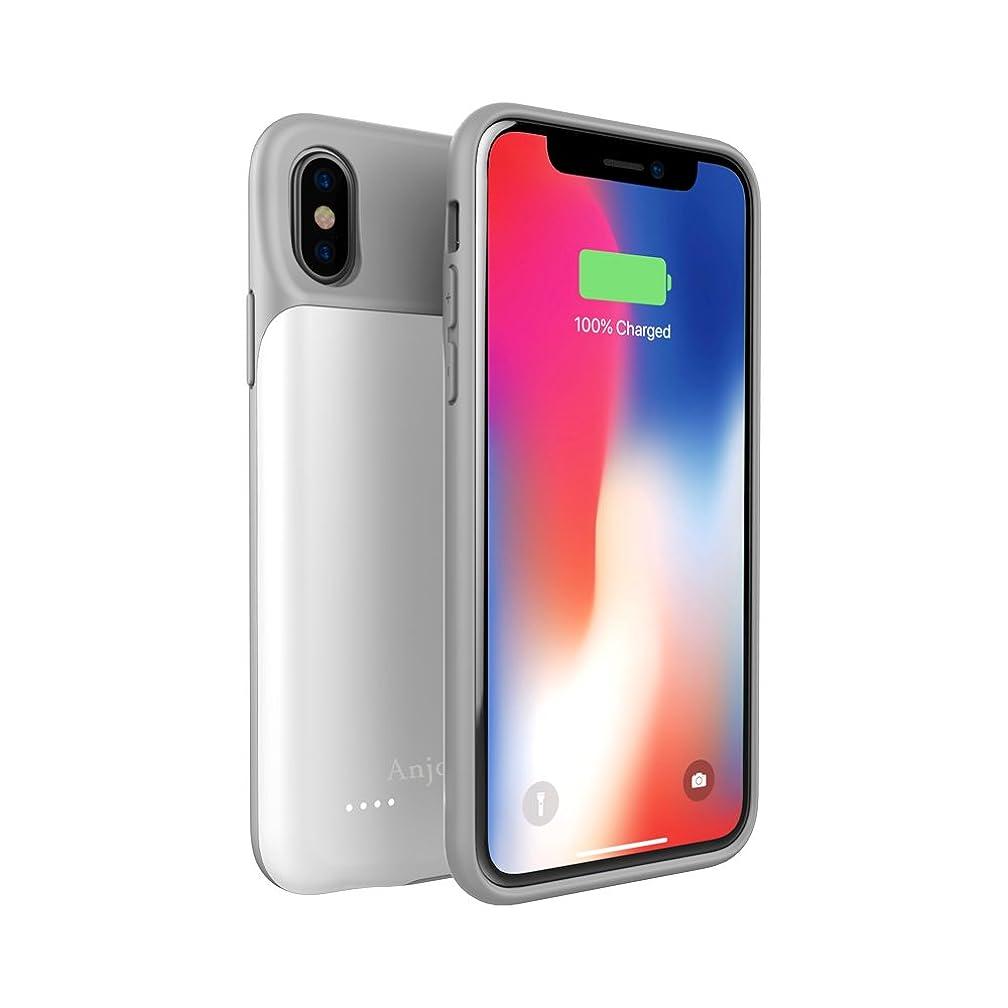 Anjoron Slim Battery Case for iPhone X 3200mAh Power Bank Rechargeable Charger Case for iPhone X 5.8
