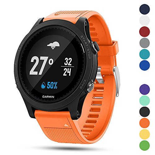 Ysang for Garmin Forerunner 935 GPS Accessory Watch Band, 22mm Width Soft Silicone Quick Install Sport Watch Strap Bracelet Wristband for Garmin Forerunner 935 GPS Smart Watch