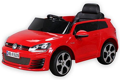 pequenenes Coche eléctrico para niños con RC 2,4 GHz, Volkswagen Golf 7 GTI