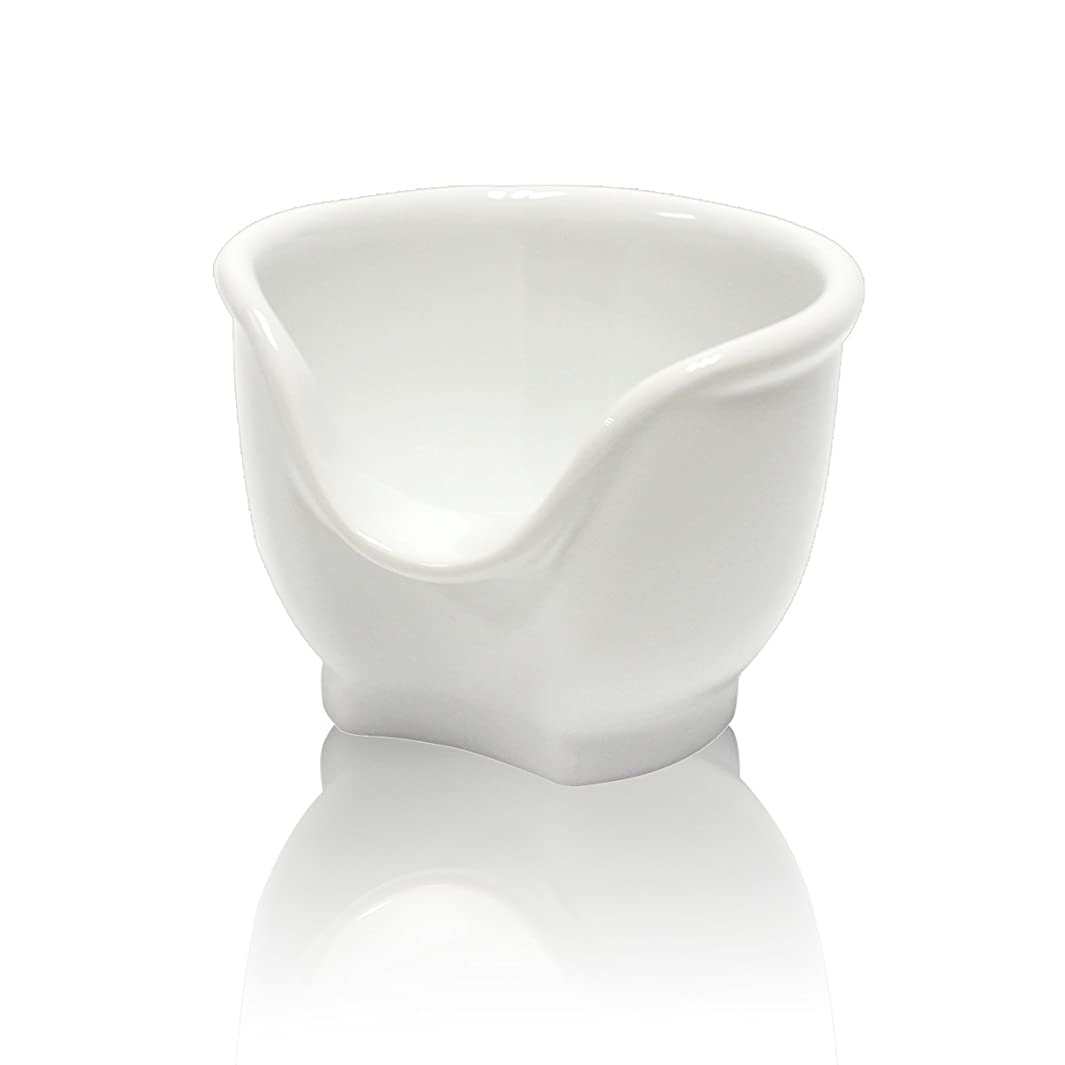 イースター人工的な保安Signstek 磁器製シェービングカップ シェービングボウル 髭剃り石鹸カップ ホワイト