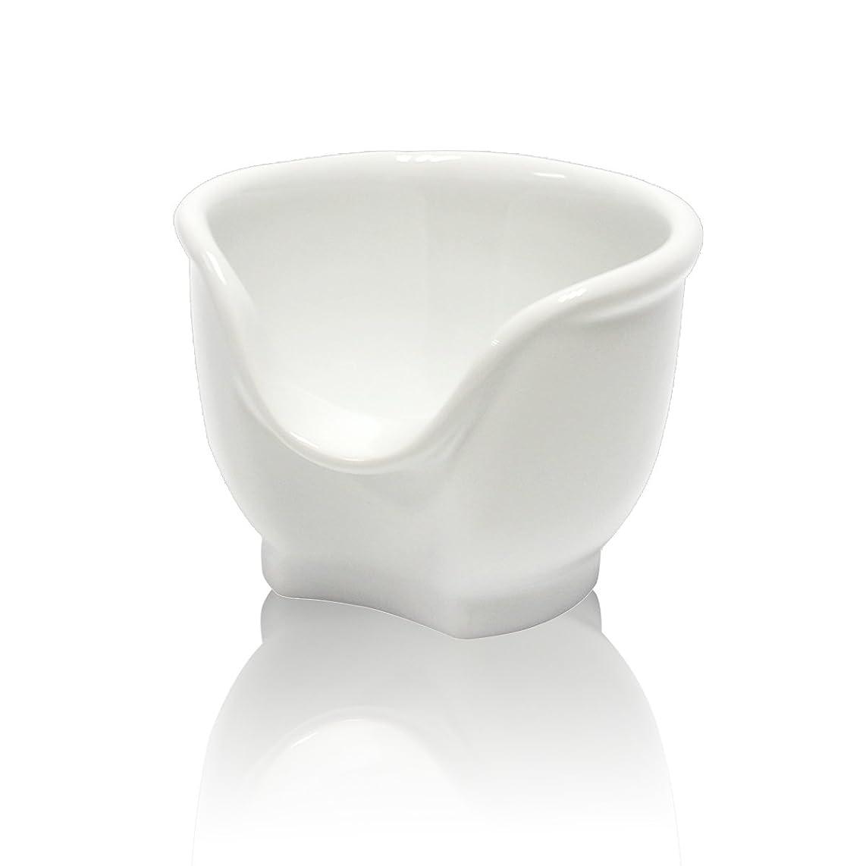 責任海里インフレーションSignstek 磁器製シェービングカップ シェービングボウル 髭剃り石鹸カップ ホワイト