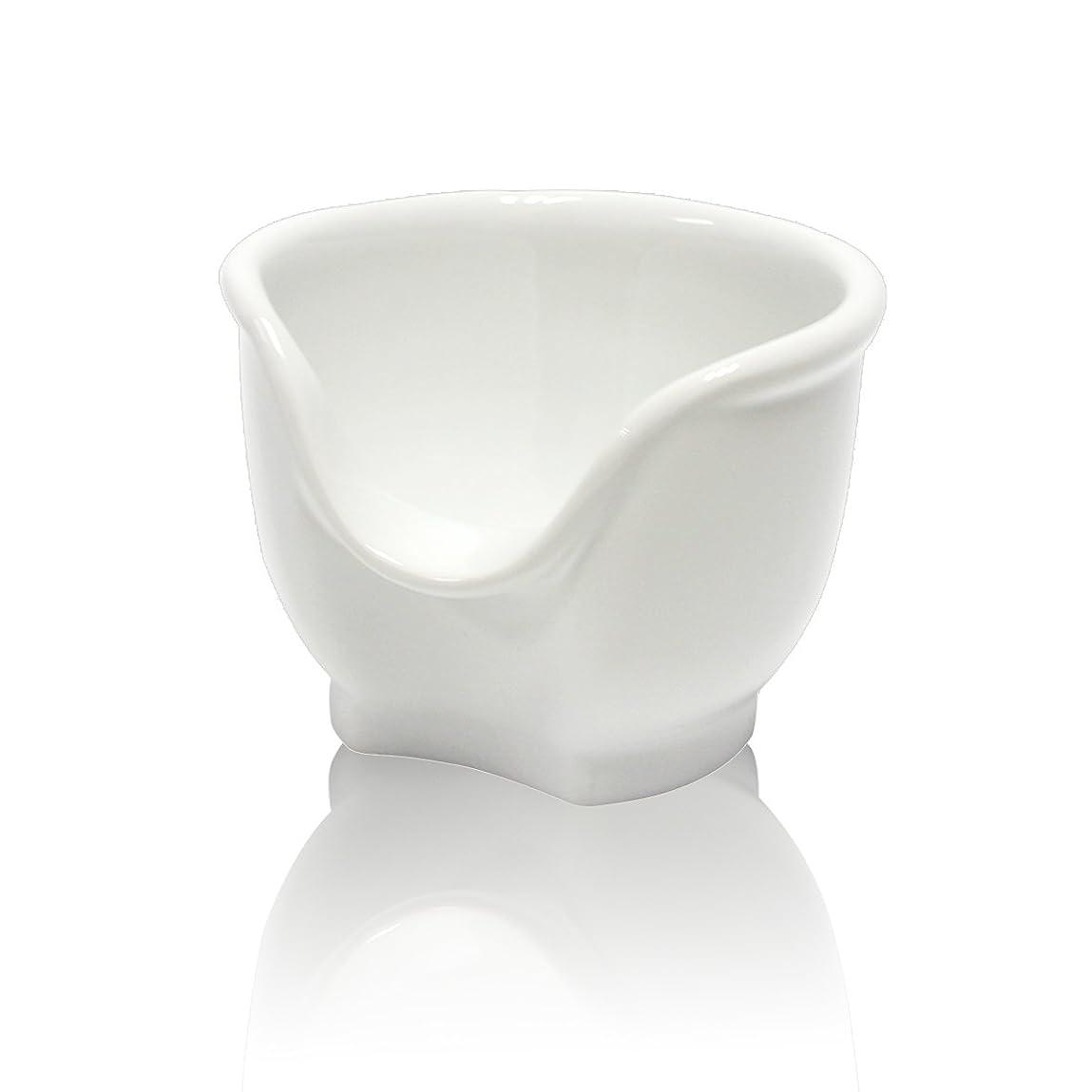 作ります感心する新着Signstek 磁器製シェービングカップ シェービングボウル 髭剃り石鹸カップ ホワイト