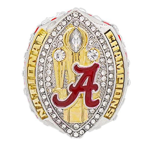 NCAA2020 Alabama Red Tide Championship Ring Campeonato del Anillo para los fanáticos Hombres colección del Regalo de visualización y campeón,Without Box,12#