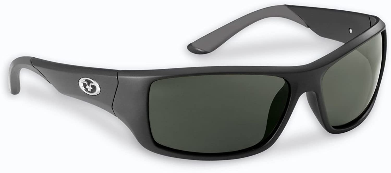 Flying Fisherman Triton Polarized Sunglasses, Matte Black Frame, Smoke Lenses