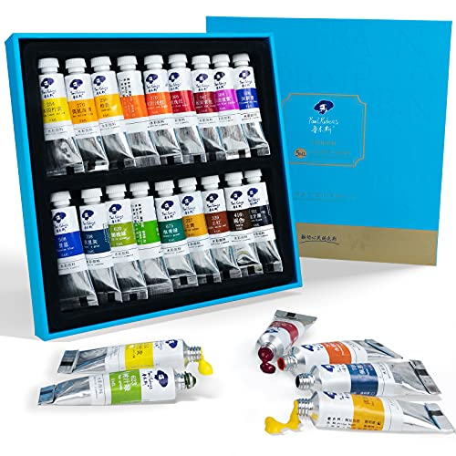 Paul Rubens Watercolor Paint, 18 Vibrant Colors Highly Pigmented, 5ml Each Tube, Perfect for Painters, Artists, Hobbyist, Beginners, Students