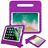 Fintie Case for iPad 6th Generation 2018 / iPad 5th Generation 2017 / iPad Air 2 / iPad Air (9.7 Inch) - Kiddie Series Light Weight Shock Proof Convertible Handle Stand Cover Kids Friendly, Purple