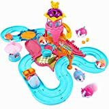 Toptrend Hamster Automatisches Rennspielzeug Kinder, Mädchen Kleiner Junge Geschenk Spielzeug Rennbahn, Spielzeug Geeignete Kleinkinder, Flexible Auto Rennstrecken, 3 4 5 6 7 8 Kinderbeste Geschenk