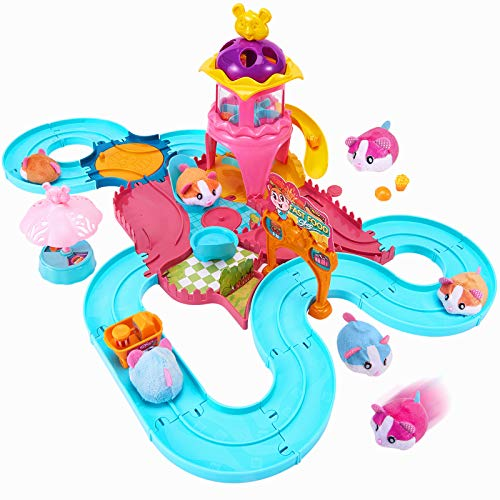 Toptrend Hamster Track Toy Set per bambini, Little Girl Boy Gift Automatic Pets Race Set Toys Adatto per bambini piccoli, 30Pcs Track Toy flessibile per Hamster, Grandi regali Età 4-5 6-7 8-10