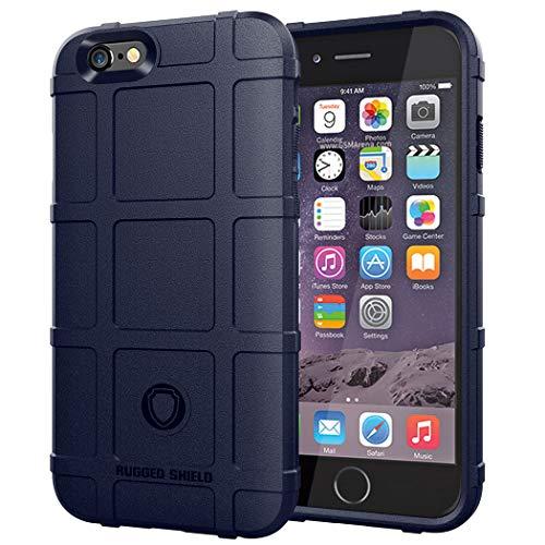 TXLING Custodia per iPhone 6/iPhone 6S Cover Custodia per, Scudi Serie Dura, Resistente al graffio e agli Urti Custodia per in Silicone TPU Protettiva Antiurto Case Cover Blau