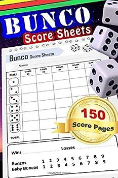"Bunco Score Sheets  150 Score Keeping Pads   Bunco Dice Game Kit Book  Small 6  x 9"" Score Cards"