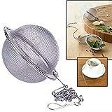 Ba30DEllylelly Filtro de malla Bola de hierbas Herramientas de cocina para cocinar Colador de té de acero inoxidable 304 Infusor Bloqueo de té Bola de condimento Especia de té