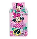 Disney - Set di biancheria da letto, motivo Minnie, composto da copripiumino 140 x 200 cm + federa 70 x 90 cm