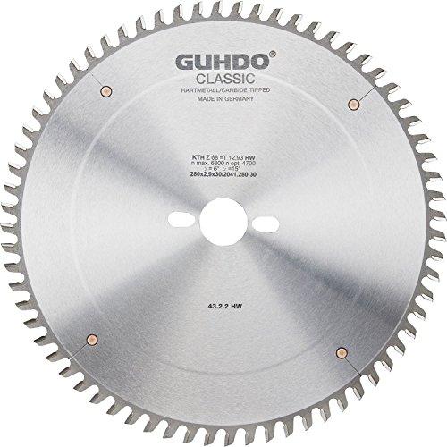 Guhdo HW Format Lame de scie circulaire 320 x 4,4   Alésage 3,2 x 65   Z75 TF/fabriqué en Allemagne