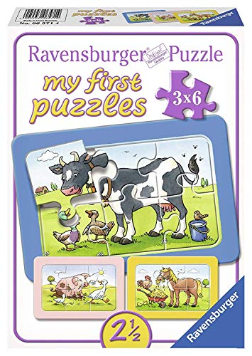 Ravensburger 06571 Gute Tierfreunde, my first puzzles 3 x 6 cm