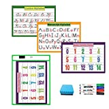 Alphabet Cursive & Manuscript & Number Formation Charts for Toddlers and Kids |Great for Reusable Dry Erase Pocket Sleeves | for Classroom Organization, Teacher and Homeschool (8.27x11.7in)