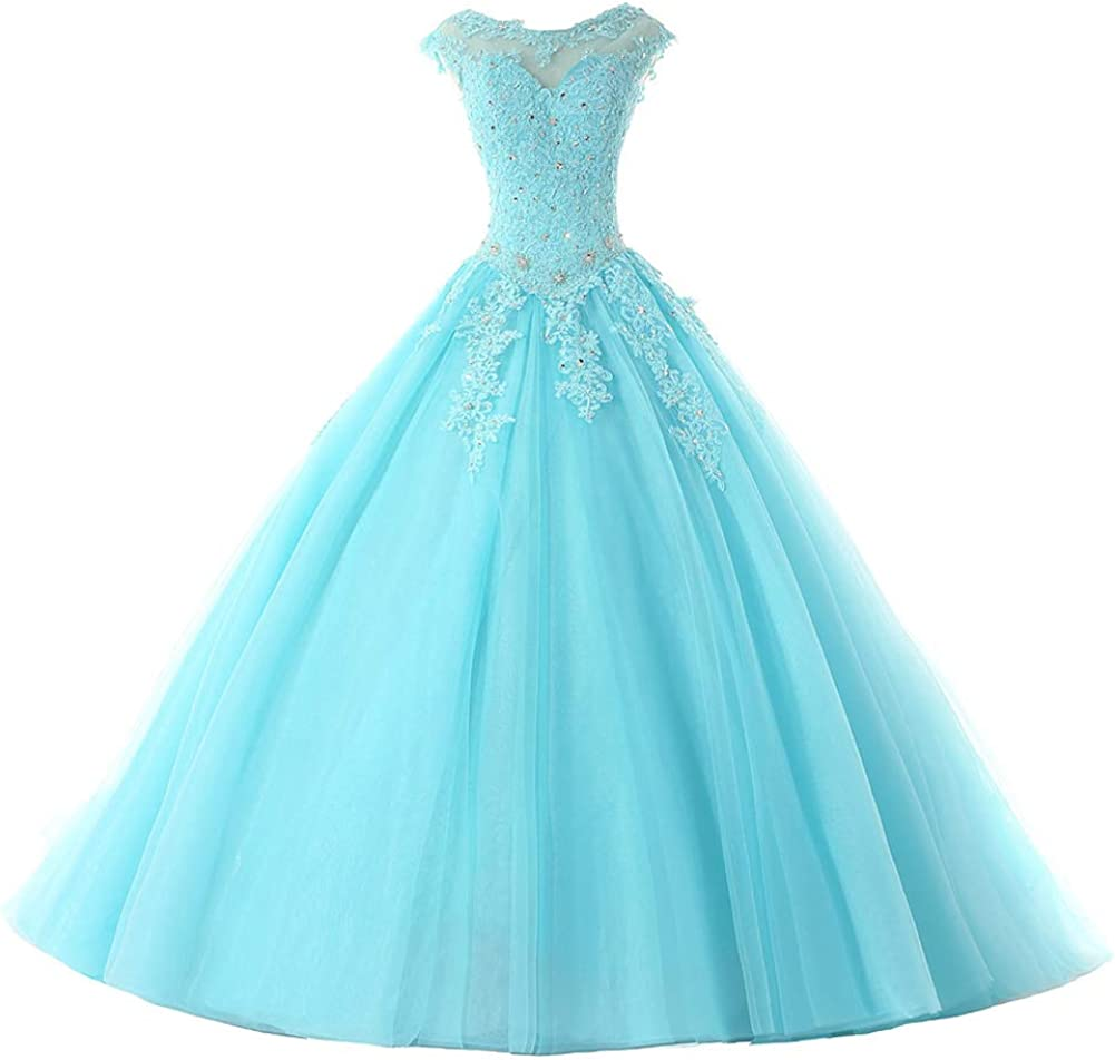 Ball Gown Quinceanera Max 80% OFF Dresses Tulle Gowns Prom Long Sweet Max 78% OFF Party