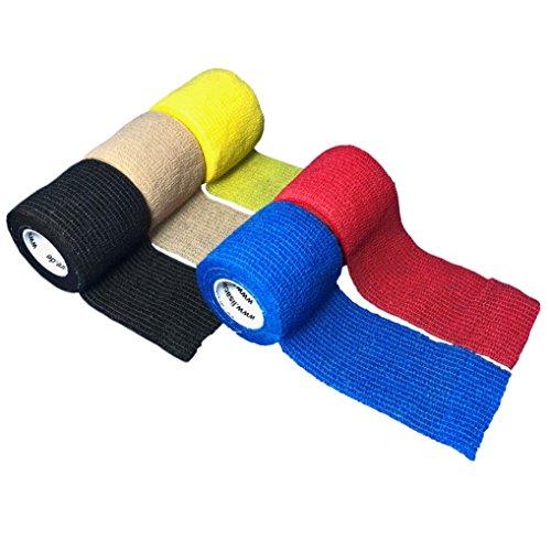 LisaCare Verbandsmaterial Selbsthaftend 5cm x 4,5m | 5er-Set Fixierbinden | Kohäsive Bandage | Wundverband | Pflasterverband | elastisch, dehnbar, selbsthaftend, ohne Kleber