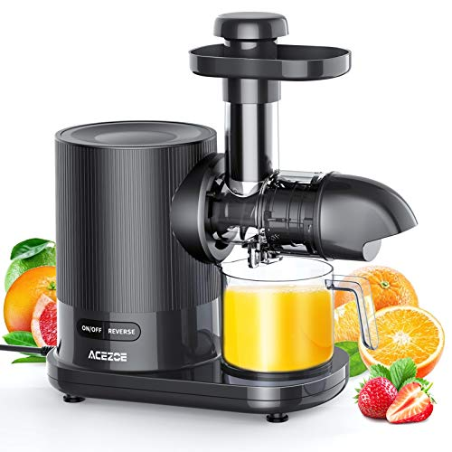 Juicer Machines, Acezoe Slow Masticating Juicer Extractor Easy to Clean, Quiet...
