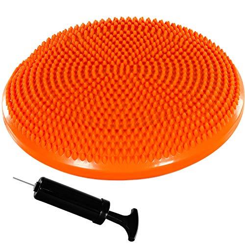 Movit Ballsitzkissen Dynamic SEAT inkl. Pumpe, Durchmesser 33cm, orange, schadstoffgeprüft, Luftkissen Noppenkissen Balance Kissen