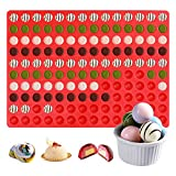 YEVIOR Mini Candy Molds and Silicone Semicircle Chocolate Drops Mold, 140-Cavity Small Round Silicone Mold for Gummy, Baking, Semi Sphere Cookie and Candy, also Can Making Ice Cubes