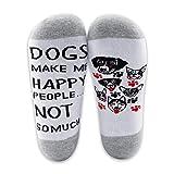 Calcetines para el dueño de los perros, regalos para amantes de los perros, 2 pares, calcetines para perros me hacen feliz