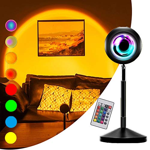Sunset Projector Light UFO Shape with Remote Control, 16 Static / 4 Dynamic...