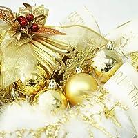 クリスマス屋 クリスマスツリー 飾り オーナメント 120cm~150cm 用 ゴールド&アイボリー ntc