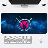 OW D.Va Anime Gaming Mouse Pad Gamer Pc Teclado De Computadora Alfombrilla De Mouse De Escritorio con Retroiluminación Led No Brillante 800X300X4Mm