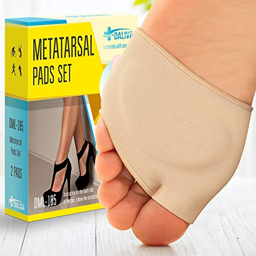 Ball of Foot Cushions (2 Pieces) - Metatarsal Pads | Forefoot Pads of Soft Fabric - Foot Sleeve Mortons Neuroma - Prevent Pain and Discomfort