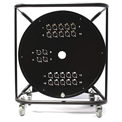 Cablematic - Bobina de extensión cable DMX DMX512 de 24 canales XLR3...