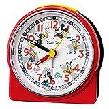 セイコークロック 置き時計 赤 本体サイズ:8.9×8.6×4.7cm 目覚まし時計 ミッキーマウス アナログ ミッキー&フレンズ FD480R