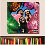 Flatbush Zombies Vacation in Hell Poster Album Music Cover Poster Stampa su Tela Home Decor Wall Art -24x24 in No Frame