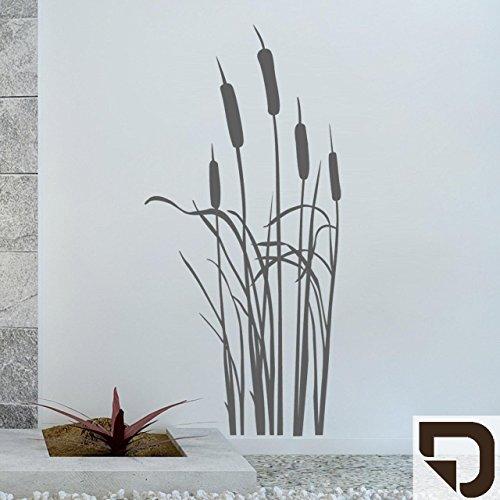 DESIGNSCAPE® Wandtattoo Schilfgras - Schilf - Schilfgräser 43 x 90 cm (Breite x Höhe) braun DW804041-S-F9