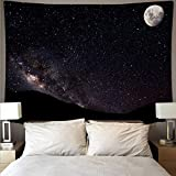 Tapiz artístico de tela de pared de galaxia estrellada tapiz de pared psicodélico tela de fondo tapiz de decoración del hogar A3 180x230cm