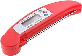 Amuzocity Termómetro Electrónico Plegable De Carne De Barbacoa Digital Para Alimentos